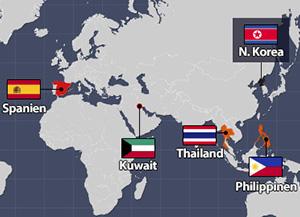 Staaten mit Reaktion auf Nordkoreas sechsten Atomtest