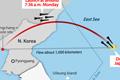 北韓 東海に向けて弾道ミサイル発射