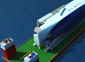 旅客船「セウォル号」の引き揚げ作業