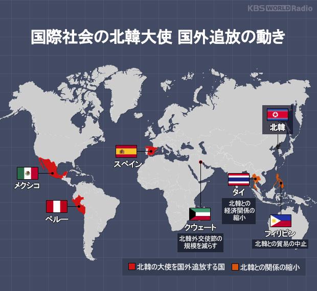 国際社会の北韓大使 国外追放の動き