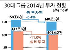 30대 그룹 2014년 투자 현황