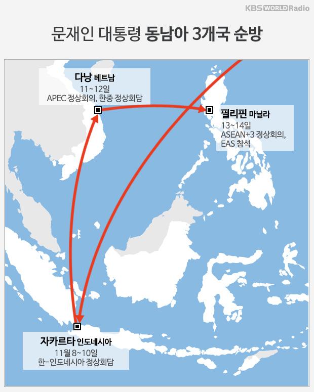문재인 대통령 동남아 3개국 순방