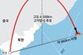 북 장거리미사일 발사 고도 4,500km 거리 960km