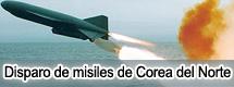 Disparo de misiles de Corea del Norte