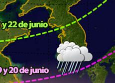 El 19-J comienza la temporada de monzones en Corea del Sur