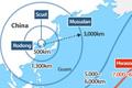 Rango de alcance de los misiles norcoreanos (Estimado)