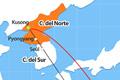 Corea del norte amenaza con lanzar misiles balísticos a base de Estados Unidos en Guam.