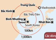 Tầm bắn của dòng tên lửa Hyunmoo Hàn Quốc