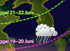 Musim Hujan untuk Mulai dari 19 Juni di S. Korea