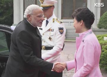 韩国印度举行首脑会谈提升两国关系