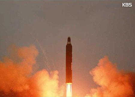 北韓 新型弾道ミサイル発射
