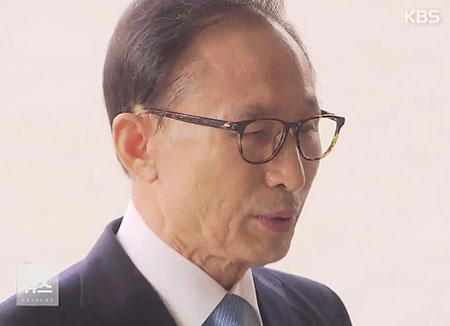 L'ex-président Lee Myung-bak a été entendu par les procureurs
