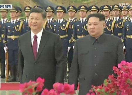 زيارة الزعيم الكوري الشمالي للصين  :