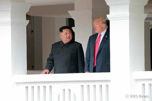 美北首脑齐聚狮城 举行会谈签署联合声明