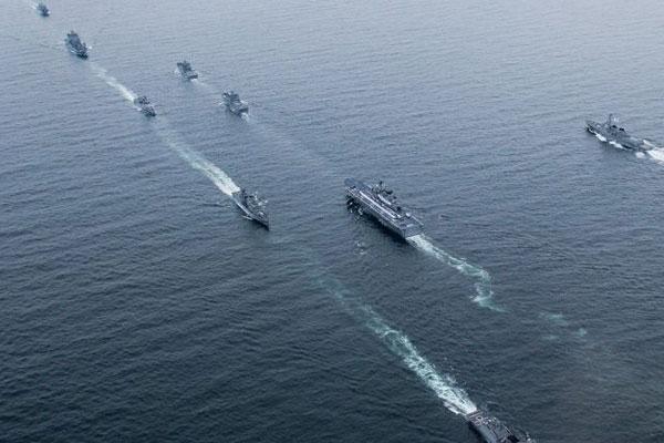 Lancement de la revue navale internationale 2018 à Jeju