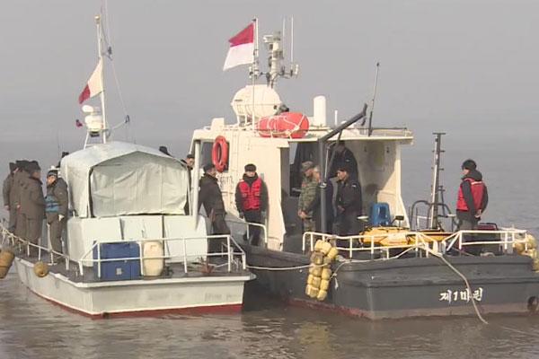 漢江河口で南北が合同調査開始