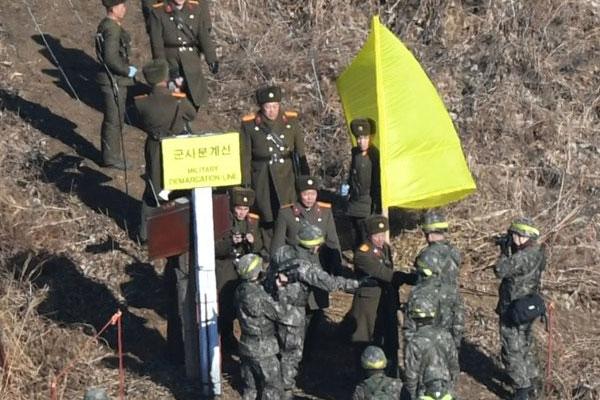 試験的に撤収終えた非武装地帯を相互検証