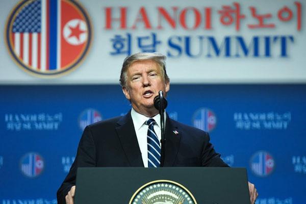 2回目の米朝首脳会談、合意なしで終わる