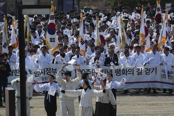 La Corée du Sud célèbre le centenaire du gouvernement provisoire coréen