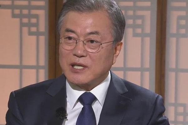 Präsident Moon zwei Jahre im Amt