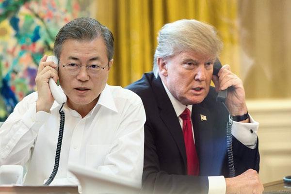 Les présidents sud-coréen et américain se sont entretenus au téléphone
