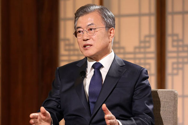 President Moon Reacts to Missile Launch in KBS Interview