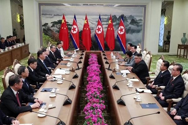 北韩与中国举行首脑会谈