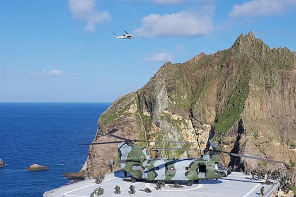 Séoul mène un exercice de défense de Dokdo en mer de l'Est
