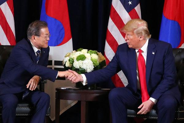 韩美首脑会谈与文在寅联大演讲