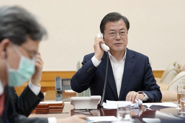 Lãnh đạo Hàn-Triều-Mỹ trao đổi về vấn đề phòng chống dịch corona-19
