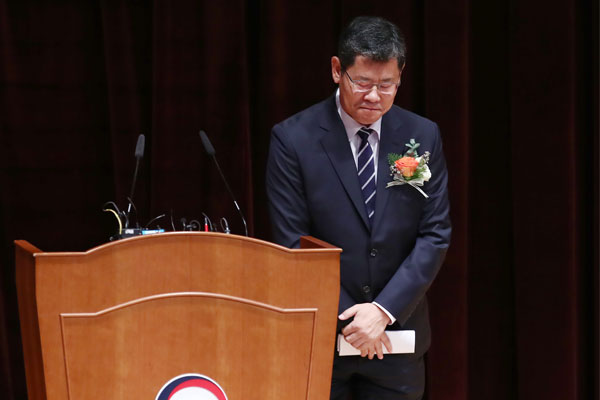Unification Minister Kim Yeon-chul resigns