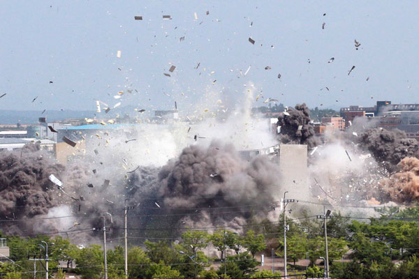 North Korea Destroys Liaison Office as Tensions Heighten