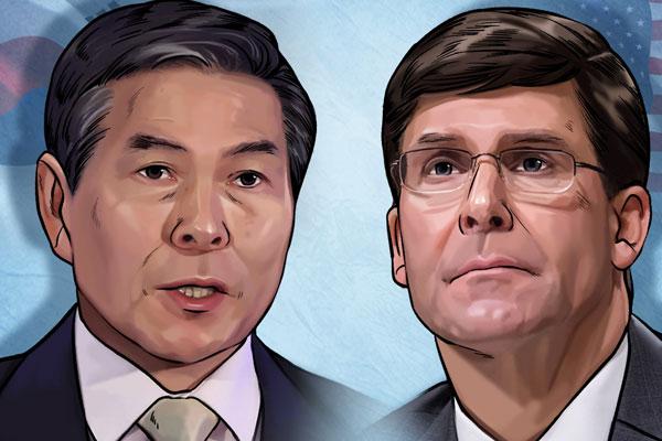 韓米国防相、韓国戦争70年共同声明発表