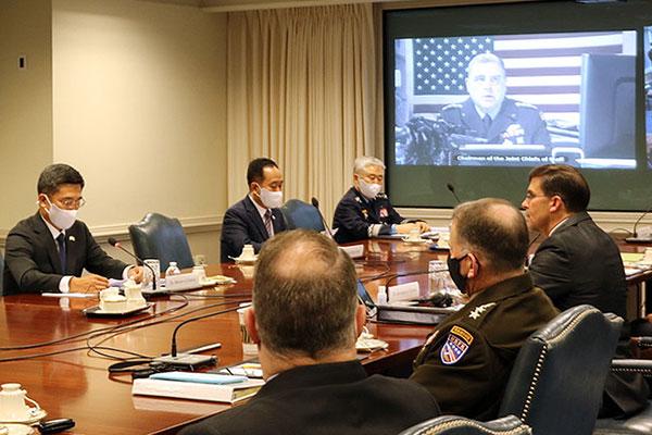 第52次韩美安保会议举行 两国防长发布联合声明