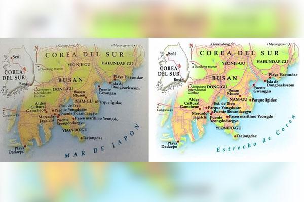 Denominación numérica para el mar entre Corea y Japón