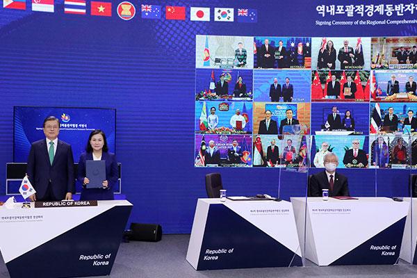 Séoul participe au RCEP, le plus grand accord de libre-échange au monde