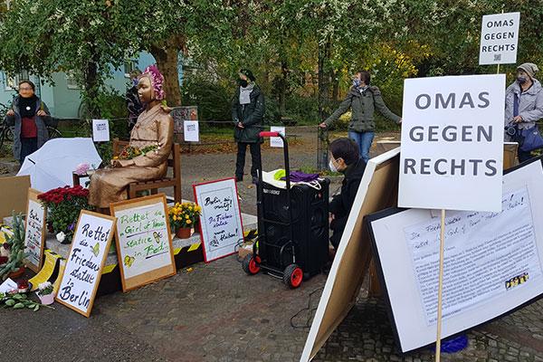 La statue de la « fille de la paix » de Berlin pourra conserver sa place