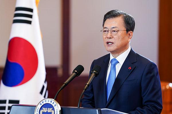 Präsident Moon rechnet mit baldiger wirtschaftlicher Erholung