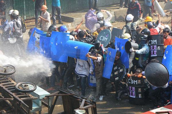 Anhaltende Proteste in Myanmar