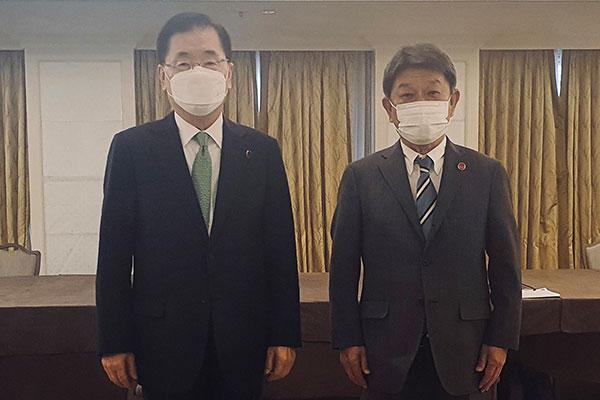 Außenminister Südkoreas und Japans führen persönliches Gespräch