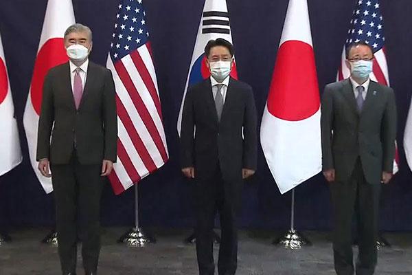 Pertemuan Ketua Juru Runding Nuklir Korut dari Korsel, AS, Jepang