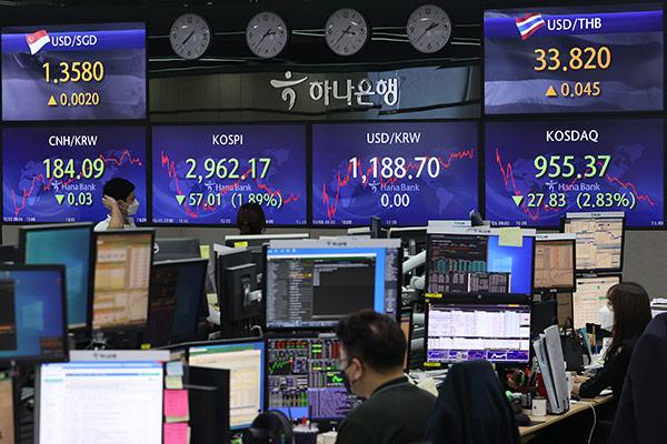 Cổ phiếu, đồng won và trái phiếu đồng loạt giảm giá trị