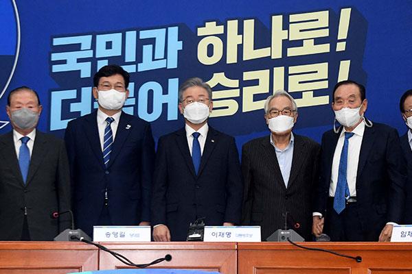 李在明当选韩执政党总统候选人