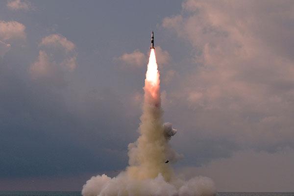 Lanzamiento de misil submarino norcoreano