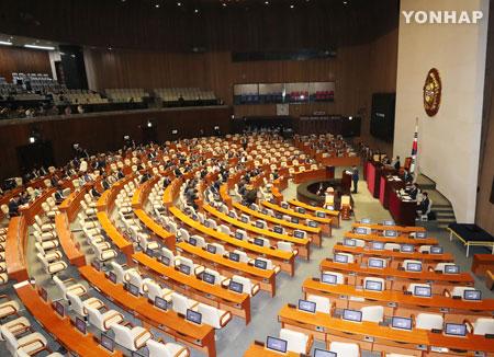 [정치] 국회 본회의 정부개헌안 표결…투표 불성립