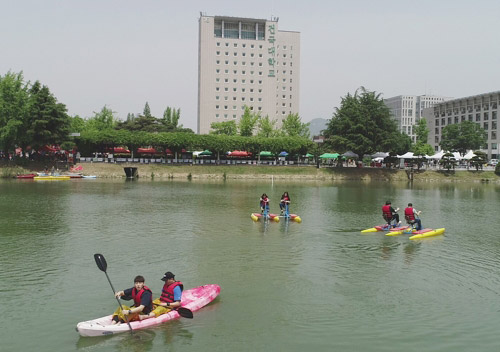 Boating during School Festival