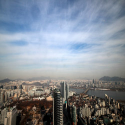 Seúl con cielo más azulado