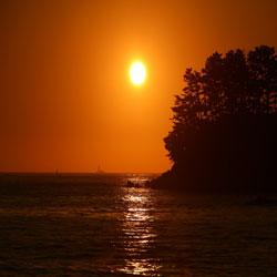 Beautiful Sunset at Taean Beach