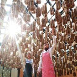 Séchage du soja fermenté