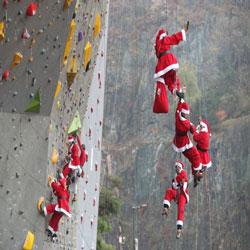Santas Promote Fund Raising